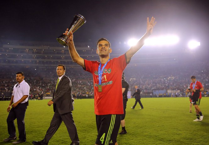 Rafa festeja el triunfo de México sobre Estados Unidos en la Copa Concacaf, que significó el pase a la Copa Confederaciones que se llevará a cabo en Rusia este año