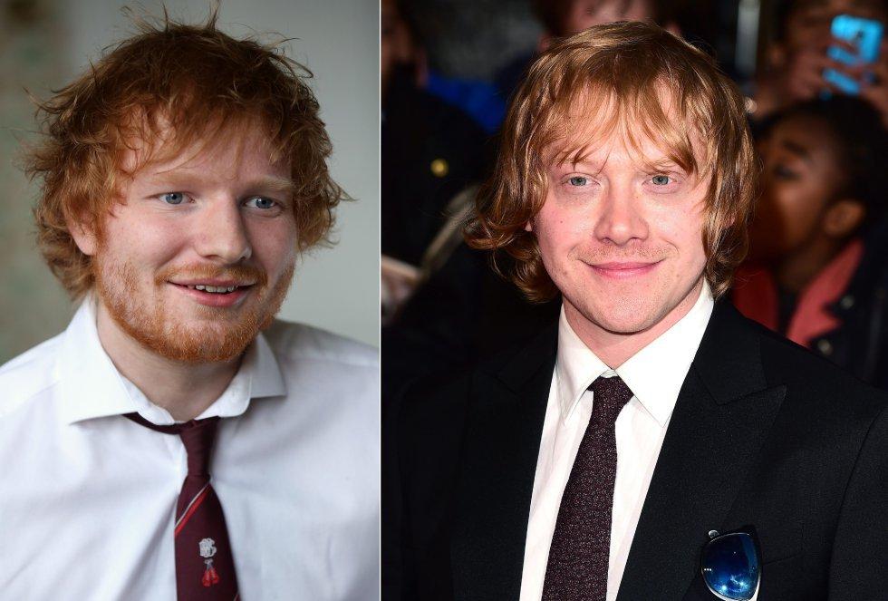 Ed Sheeran y Rupert Grint