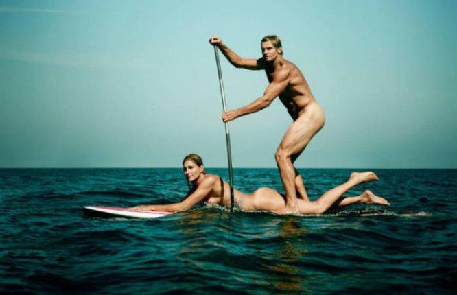 Gabriella Reece, ex jugadora de voleibol de playa, y su esposo Laird Hamilton, surfista