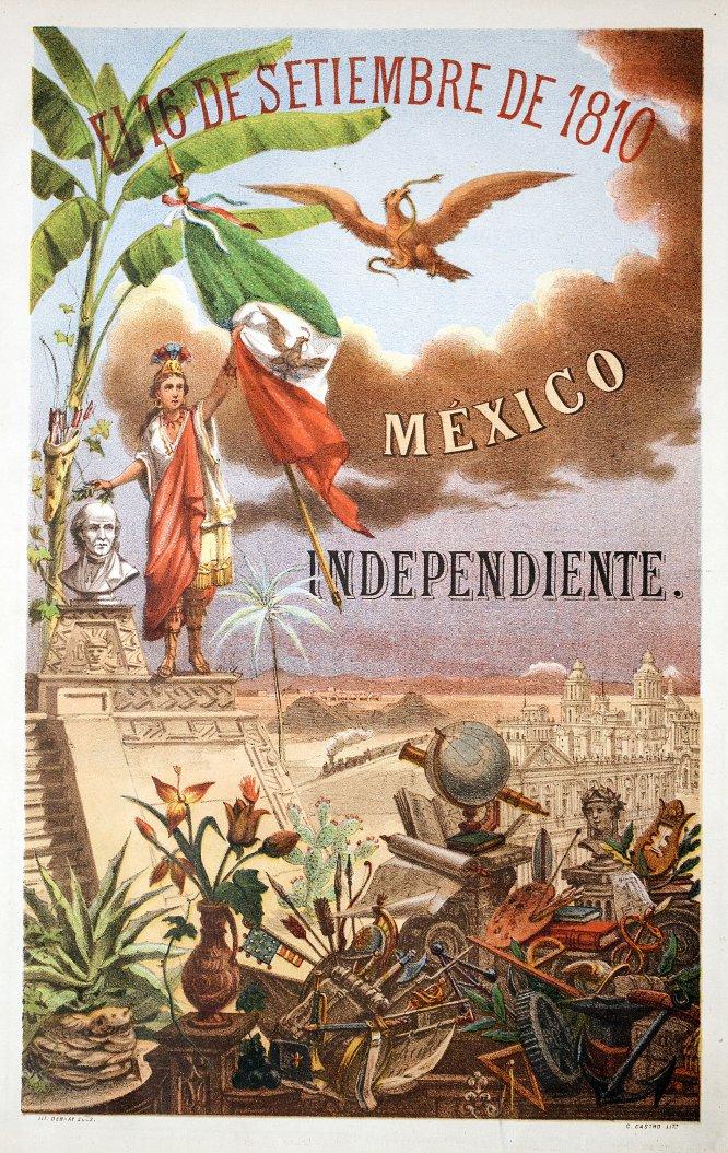 Estampa de portada en:16 de septiembre de 1810. México Independiente 76º aniversario, México,Tip. El gran libro, Independencia no. 9., y Lit. Debray Sucs., fecha no registrada.Cromolitografía