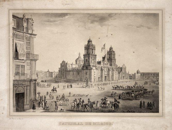 Catedral de México, fecha no registradaLitografía