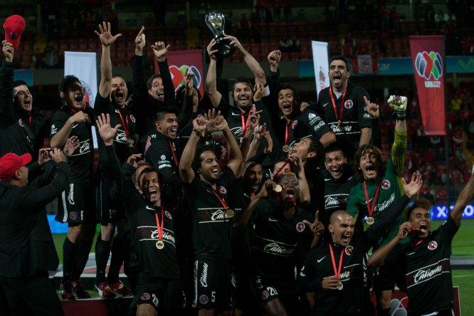 Tijuana fue monarca en el Apertura 2012 luego de vencer al Toluca por global de 4-1