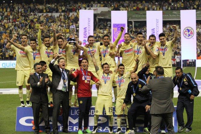 El América conquistó el título del Apertura 2014 después de vencer a los Tigres por global de 3-1