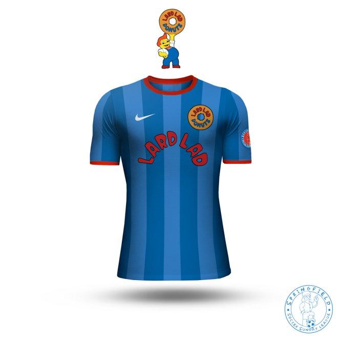 Así lucirían los uniformes de futbol de Los Simpson