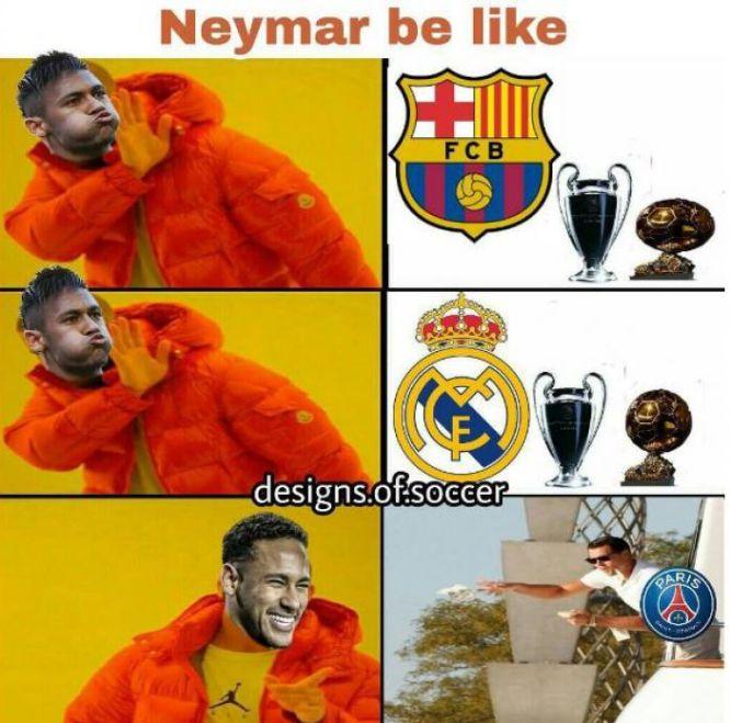 Memes de la salida de Neymar del Barcelona y su pase al PSG