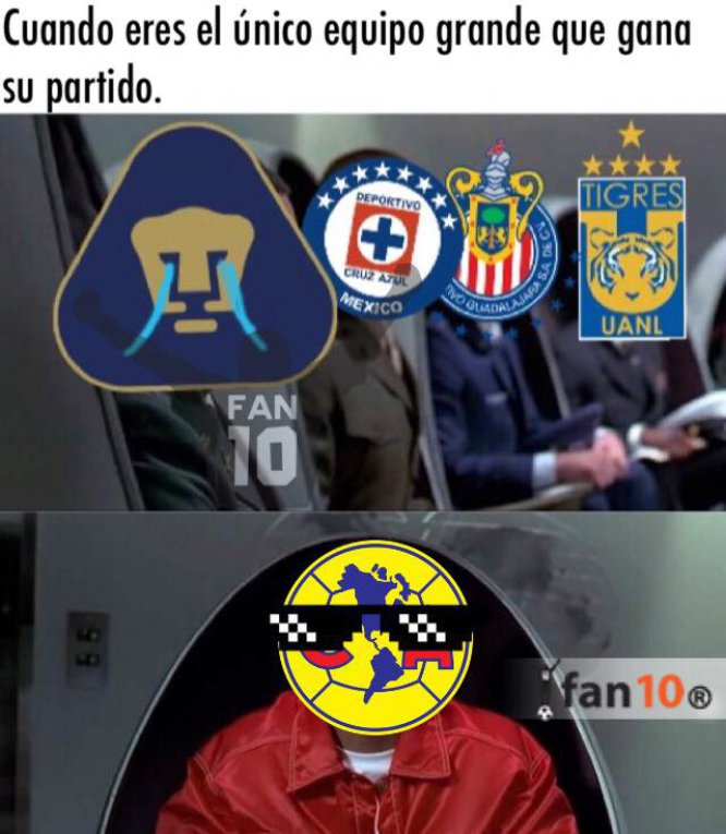 Los 10 mejores memes del triunfo de América sobre Pumas