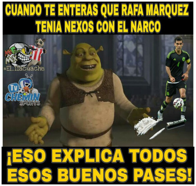 Los memes se burlan de Rafa Márquez