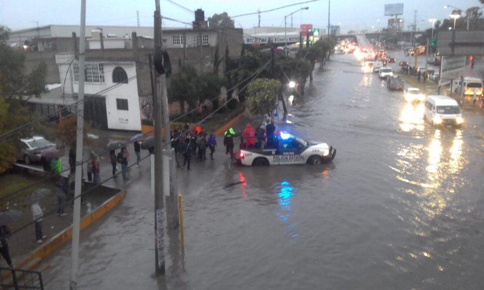 La CDMX bajo el agua