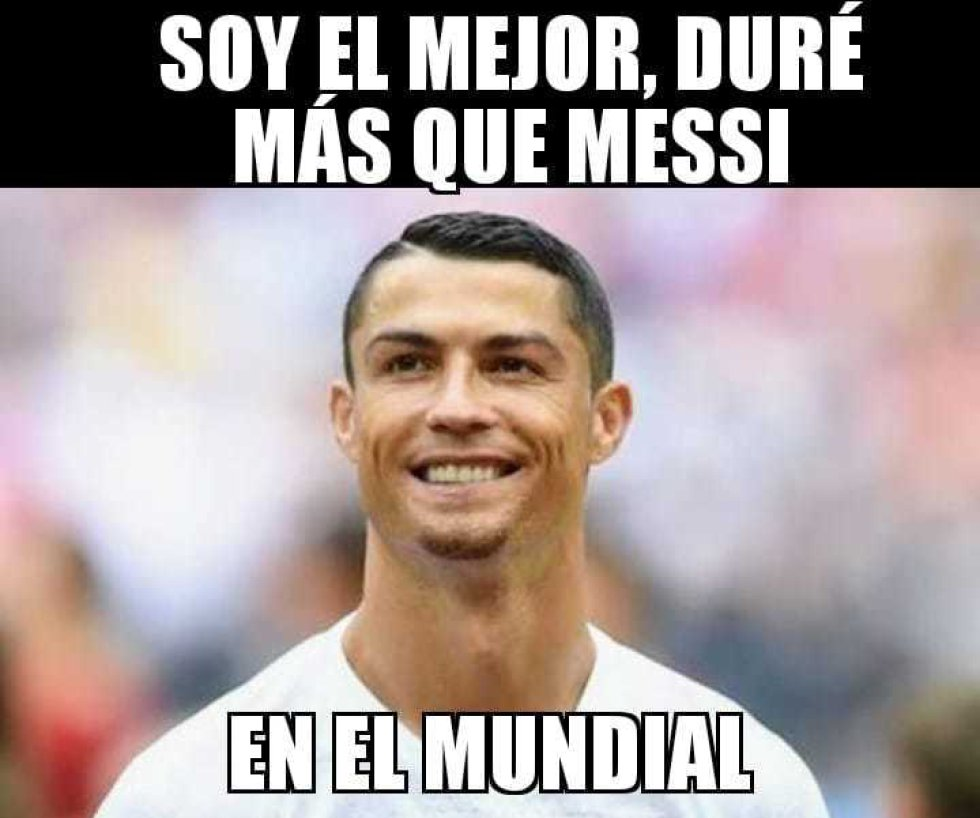 Memes Messi y Cristiano