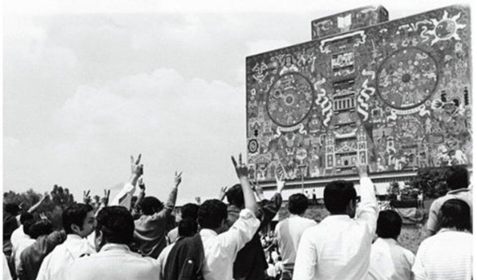 El 2 de octubre de 1968 el movimiento estudiantil realizó un mitin luego de que un día antes el Ejército desocupara Ciudad Universitaria.