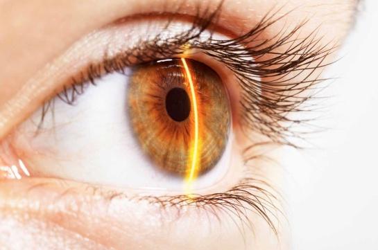 laser en ojos