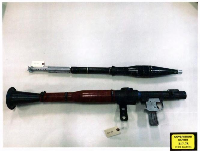 Armamento ligado a El Chapo