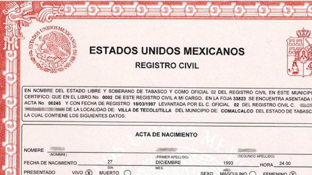 ¿Necesitas tu acta de nacimiento? Estos son los tramites de registro civil