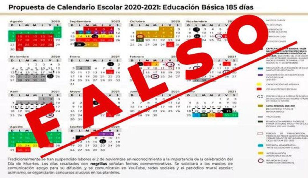 ¡No hagas caso al calendario escolar que circula por whatsapp, es falso!