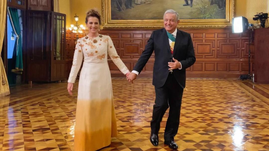 Los vestidos de Beatriz Gutiérrez Müller en el Grito de Independencia