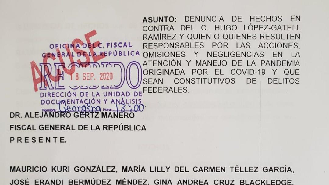 Senadores PAN denuncian a López Gatell por homicidio, lesiones y sabotaje