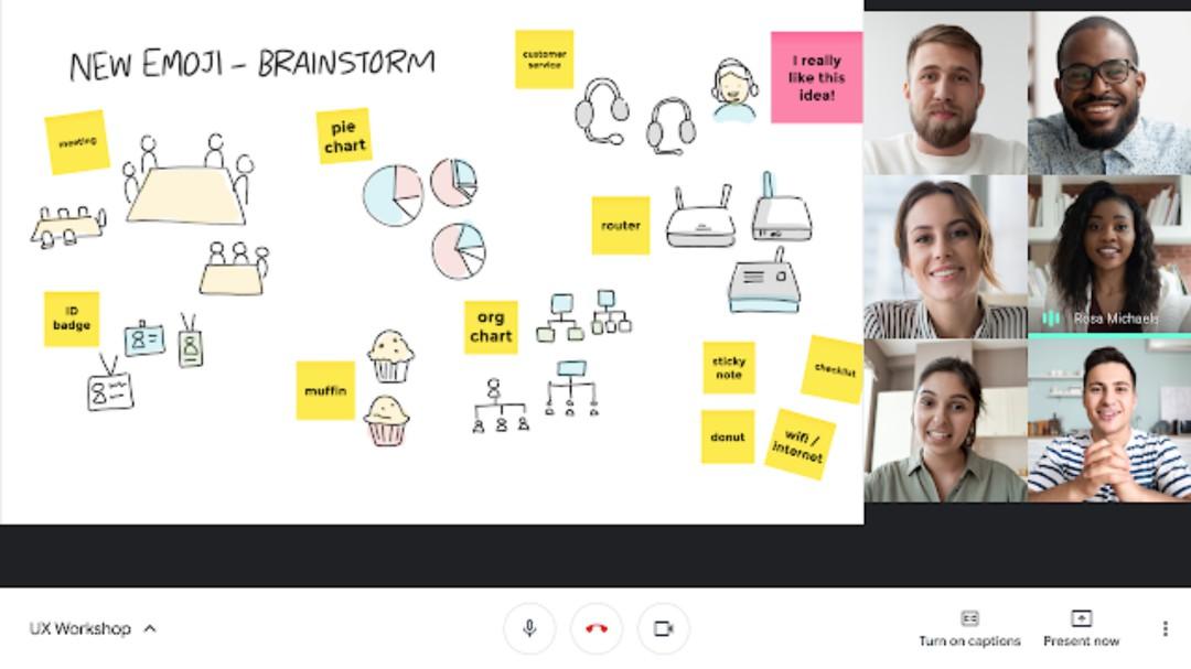 Buenas noticias; ya hay pizarrón virutal en Google Meet