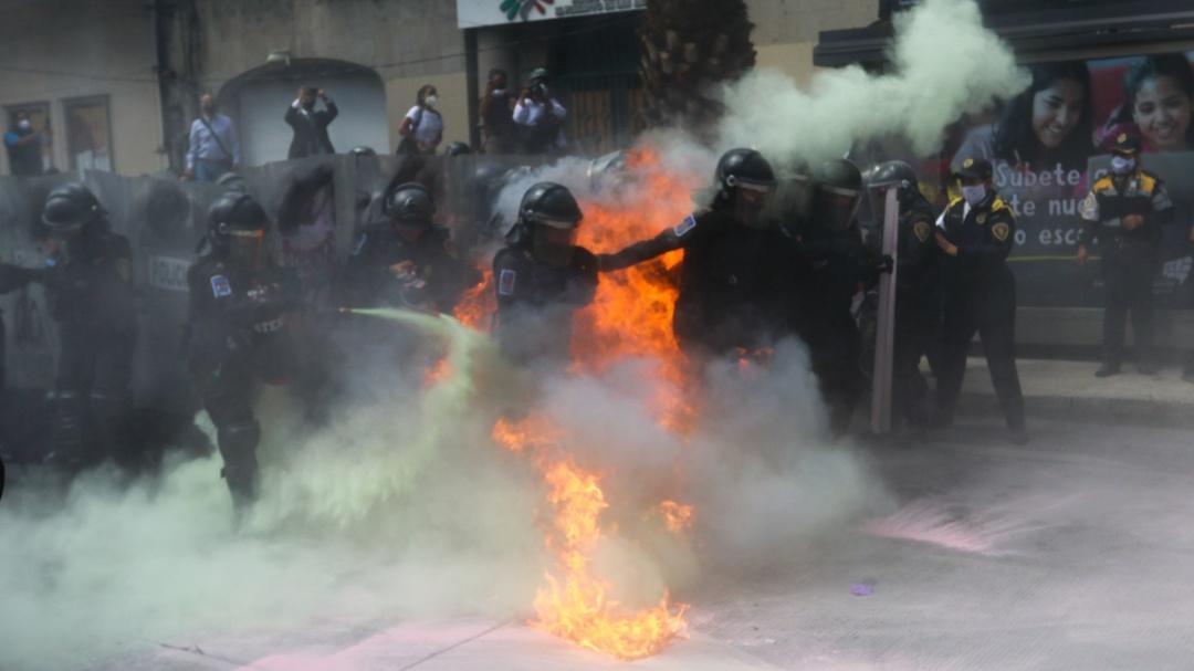 43 mujeres policías resultaron lesionadas tras marcha del #28S