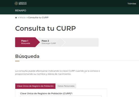 Consulta e imprime en línea tu Clave Única de Registro de Población (CURP)