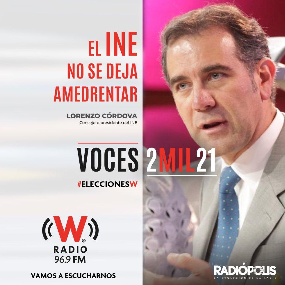 """Lorenzo Córdova: """"El INE no se deja amedrentar, no se ha dejado en otros tiempos y no lo hará"""""""