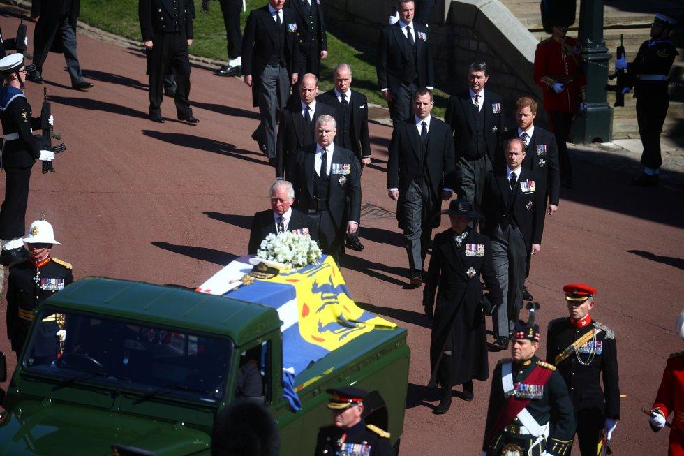 Cortejo fúnebre de la familia del duque de Edimburgo