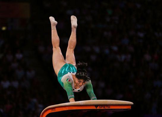 Alexa se convirtió en la segunda gimnasta mexicana que consiguió una final en salto de caballo